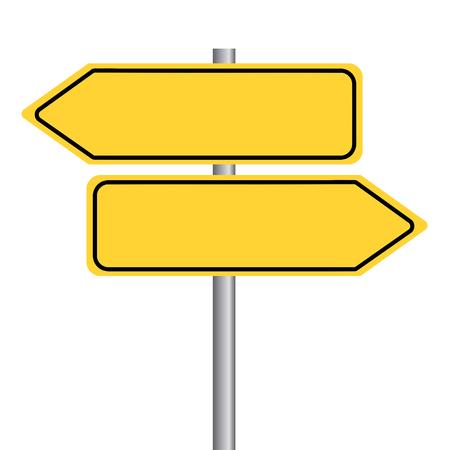 Wegweiser - Richtung anzeigen ohne Text. Vektor Eps10.