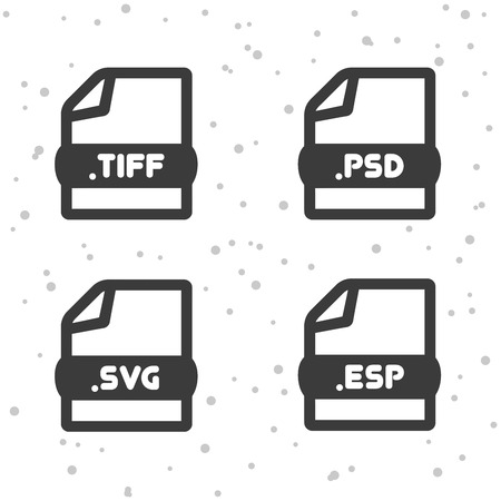 Image and Vector file icons. Download TIFF, PSD, SVG and ESP symbol sign. Web Buttons.