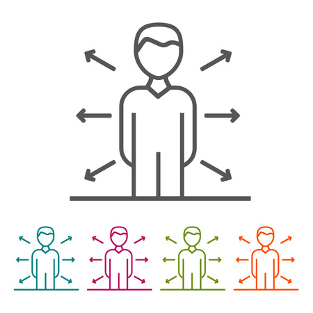 Opportunities Business People icons in thin line Style and flat Design.