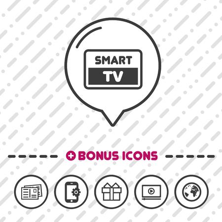 Smart TV Screen icon. Full HD symbol.