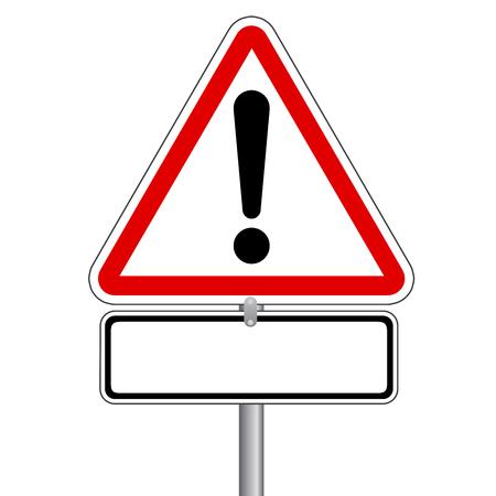 warning sign exclamation mark Ilustração