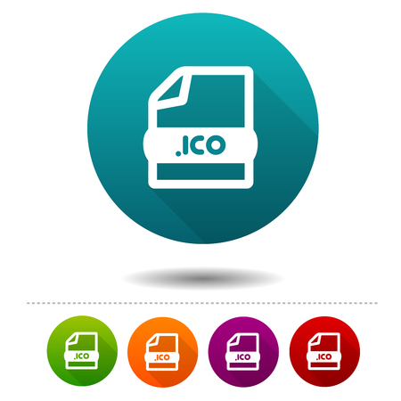 Image file icon. Download ICO symbol sign. Web Button.