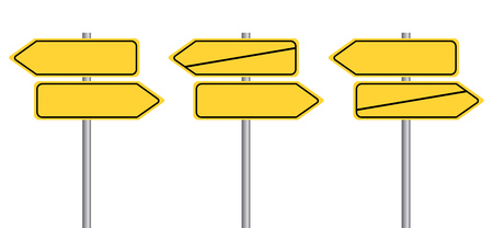 Signpost street signs without Text. German Translation: Wegweiser Schilder - Richtung anzeigen ohne Text.