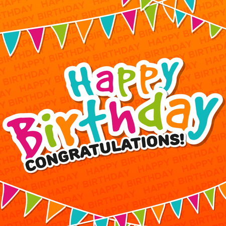 Happy Birthday - Congratulations greeting Card.