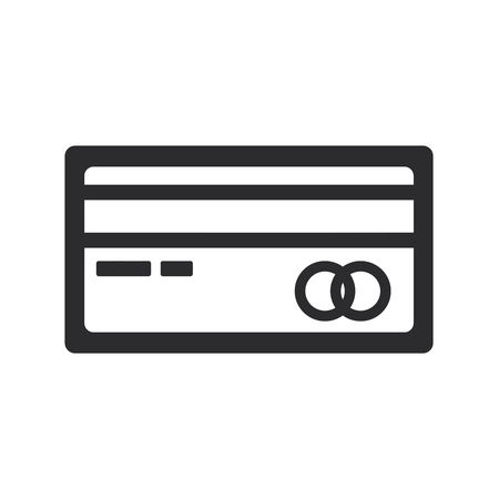 Credit card icon. Debit payment symbol. Bank sign.