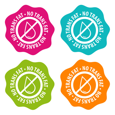 No Trans fat Badges. Eps10 Vector.