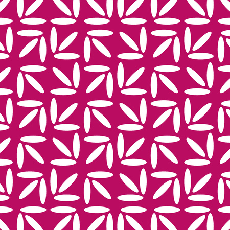 Geometric Vector Pattern. White and Pink Background. Illustration