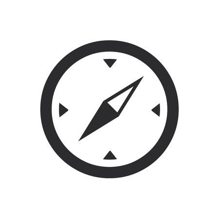Compass icon. Equipment symbol. Travel sign.