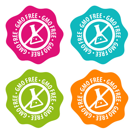 GMO free Badges. Eps10 Vector.