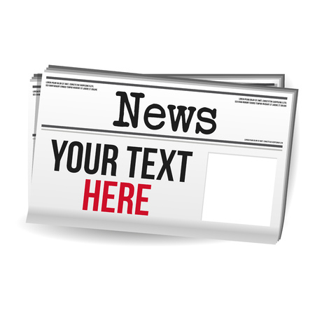 Newspaper Magazine - Your Text here free space. Иллюстрация