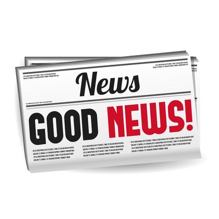 Revista de periódicos - Buenas noticias. Vector Eps10.