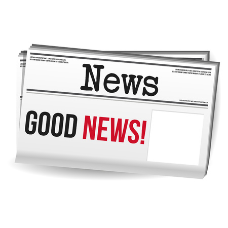 Newspaper Magazine - Good News with free space. Иллюстрация