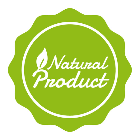 Vegan Button Natural Product Badge. Eps10 Vector Banner.