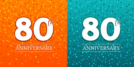 80th Anniversary Background - 80 years Celebration. Birthday Eps10 Vector.