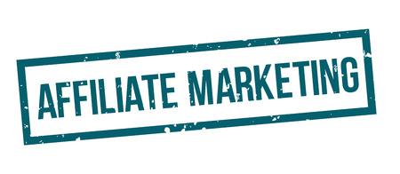 affiliate marketing square grunge blue stamp badge