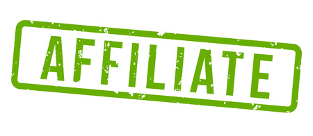 affiliate marketing square grunge green stamp badge