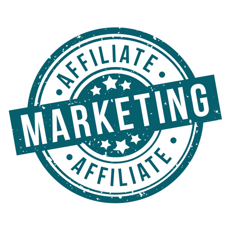 affiliate marketing round blue grunge stamp badge Иллюстрация