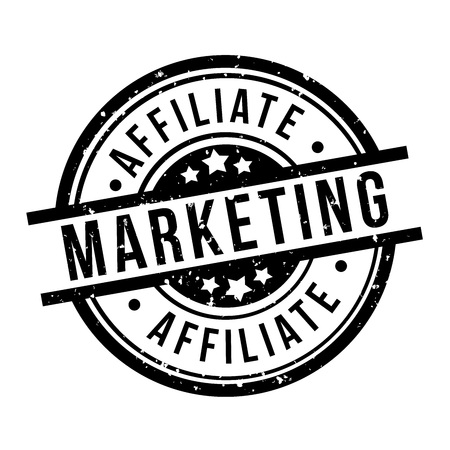 affiliate marketing round black grunge stamp badge Illustration