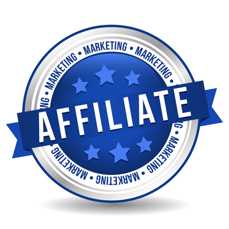 Affiliate Marketing Badge - Online Button - Banner with Ribbon. Illustration