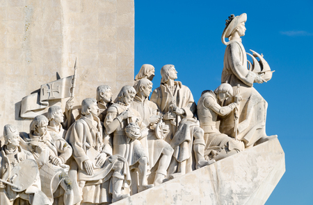 conquistador: Monument to the Discoveries, Lisbon Stock Photo