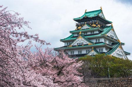Osaka castle in spring Editorial