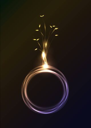 lighting effect: Beautiful abstract lighting effect and earth symbolic vector illustration