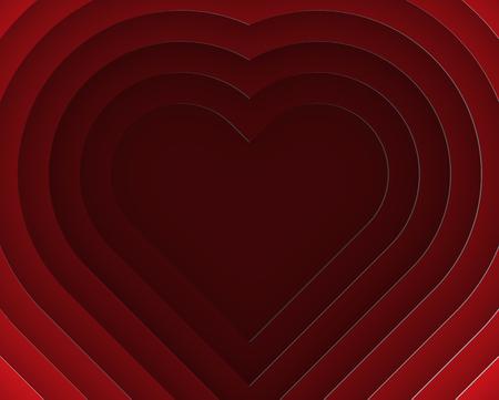 3d heart: 3D Heart layer paper cut style vector illustration