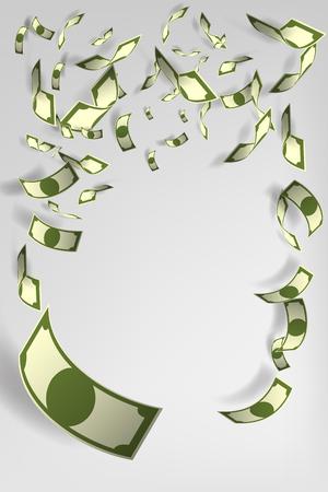 Lot of money background illustration