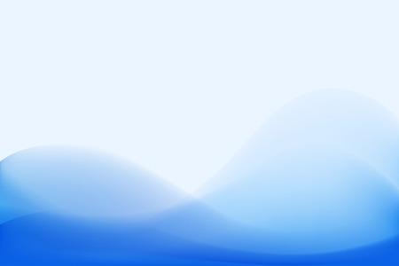 Blue curve smooth abstract background. chill out feeling Vektoros illusztráció