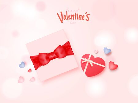 Cupid falling in love with a lot of heart background and romantic pastel color vector illustration