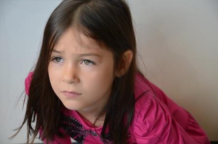 cutie: Cutie girl with sad face  Stock Photo