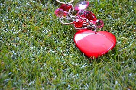 Love heart key chain Stock Photo