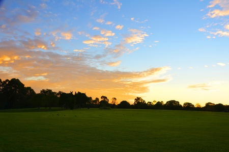 Late afternoon sun in Brisbane Stock Photo