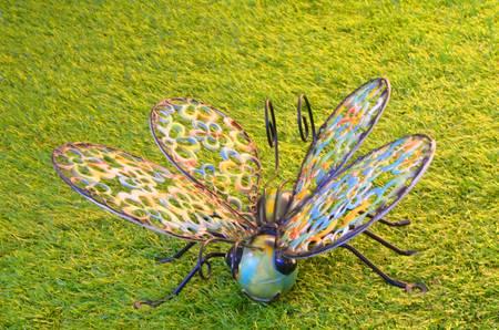 Butterfly;garden ornament Stock Photo