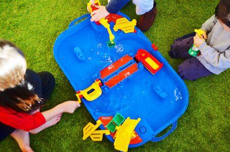 pre schooler: Water play; toy for children