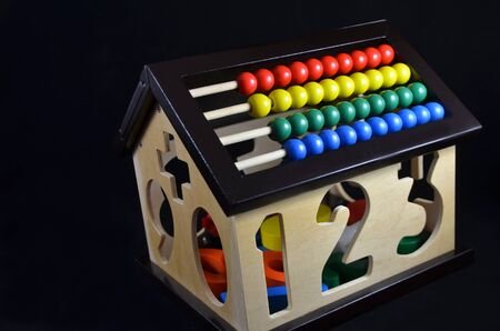 Abacus house   educational toy for children before school age photo