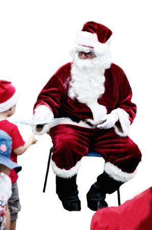 Santa Claus with white background photo