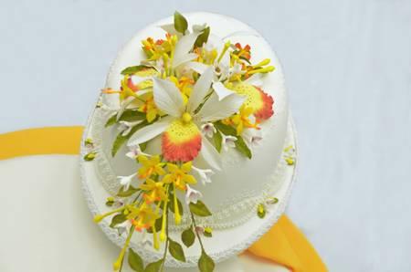 decoracion de pasteles: Cake decorating dise�o floral Foto de archivo