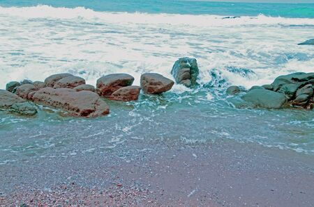 stoney: A Stoney beach Stock Photo