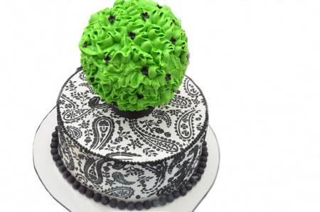 decoracion de pasteles: Cake decorating bonito patr�n de dise�o floral