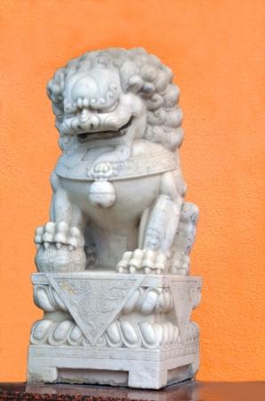 gaurd: A Chinese lion statue