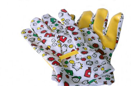 kids garden gloves Stock Photo