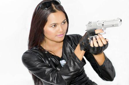 terminator: A lady dressed up like a terminator