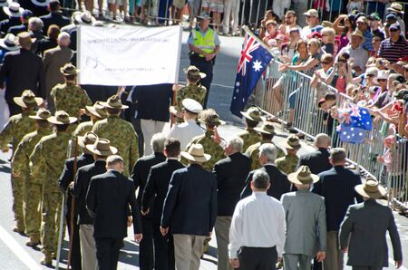 Marching with pride ; Anzac day parade ,25th of April 2013, Brisbane CBD at 10 am, Australia