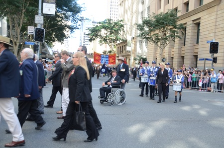 Marching with pride ; Anzac day parade ,25th of April 2013, Brisbane CBD at 10 am., Australia  Stock Photo - 19368630