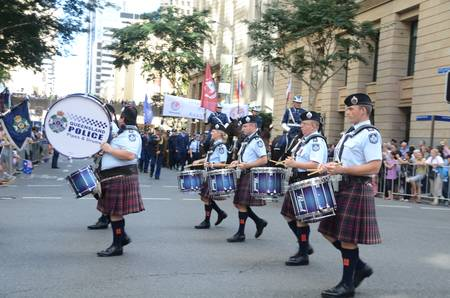 Marching with pride ; Anzac day parade ,25th of April 2013, Brisbane CBD at 10 am., Australia  Stock Photo - 19368597