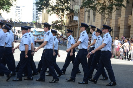 Marching with pride ; Anzac day parade ,25th of April 2013, Brisbane CBD at 10 am., Australia