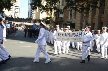 resident: Marching with pride ; Anzac day parade ,25th of April 2013, Brisbane CBD at 10 am., Australia