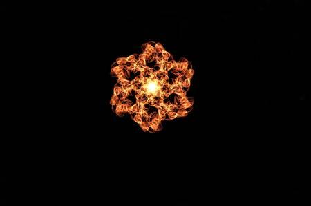 symbole: Illuminated flower design