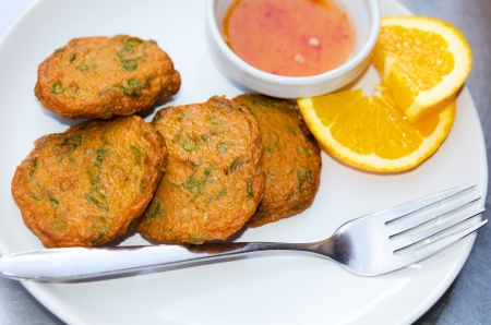 Tasty fish cake photo